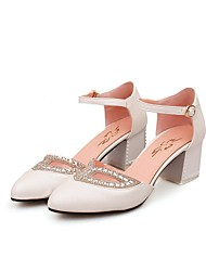 Women's  Chunky Heel Pointed Toe Sandals  Shoes With Rhinestone (More Colors)