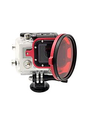 Accesorios GoPro Tapa de Objetivo Para Gopro Hero 3 aleación de aluminio rojo