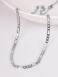 Unisex 2MM Width 18Inches(45cm)Length Silver Chain Necklace Jewelry Christmas Gifts