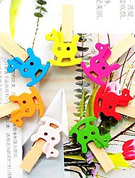 Colorful Rocking Horse  Pattern Small Wooden Clip(7 PCS)