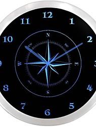 nc0947 Compass Navigation Neon Sign Orologio da parete a LED