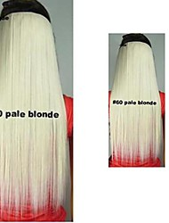 Qualité de vente chauds Clips Colour coloré Broen Pale Blonde Hair Extension Dark Girl