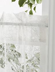 """twopages® Land anmutigen Blüten klassische weiße spitze tier Küche Vorhang Set 2 pcs54 × 26 """"l"""