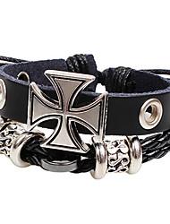 Men's Old Roman Cross Hand-made Bracelet