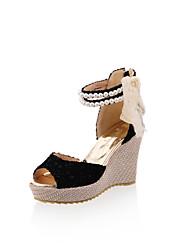 Sandales/Pompes / Talons ( Multi-couleur Plateforme/Bout ouvert/Semelle compensée/Confort/Spartiates/Bout rond -Hauteur de semelle