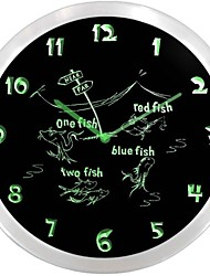nc0952 One Fish Two Fish Dr. Seuss-Leuchtreklame LED Wanduhr