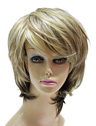 Capless Synthetic Short Straight Mixed Color Synthetic Wig For Sexy Women
