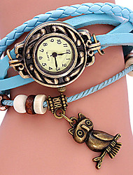 AIHAO Owl Decaretion Watch (blu)