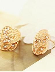Pendientes Oro Ventas Estrella Brillante Rose