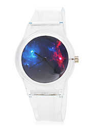 Children's Space Pattern Transparent Rubber Band Quartz Wrist Watch Cool Watches Unique Watches