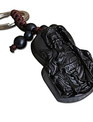 Duo Ji Mi ® Guan Gong Ebony Woodcarvings Car Key Pendant