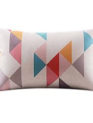 Adorável geométrica Rec algodão / Linen Decorrative fronha
