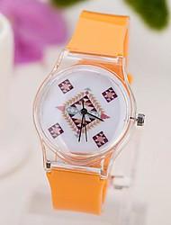 lazer moda relógio padrões de quartzo das mulheres rochosos
