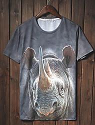 Herren T-shirt-Druck Freizeit Baumwolle Kurz
