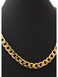 u7® ouro 18k pedaços de jóias correntes de elos hiphop cheio colar de 11 milímetros 55 centímetros grandes homens tamanho