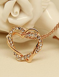 Fashion Jewelry  Short Gold Plated  Double Love Winding  Set  Auger Clavicle  Necklace for Women