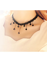 Cotingbo Women's Sexy  Lace Flower Water Droplets Clavicular Necklace