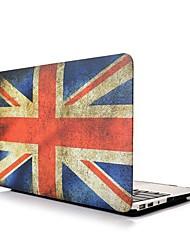 """Angibabe Flag Hard Shell cubierta protectora Retro Reino Unido Encuadre de 11.6 """"pulgadas Macbook Air"""