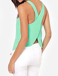 Frauen Neues Design Sexy Rückenfrei Chiffon Shirts