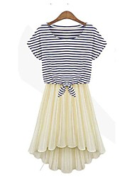 Plus Size Women's Stripe Two-Piece Dress