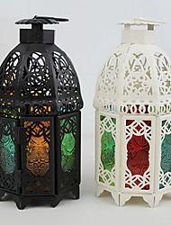 Style européen tempête lanterne pour la décoration (couleur aléatoire)