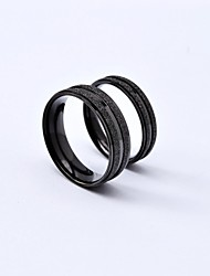 Classic Scrub Stripe Titanium Steel Couple Rings Promis rings for couples