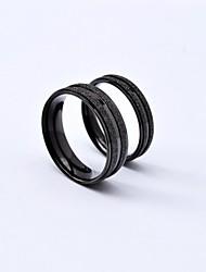 Ringe Runde Form Alltag / Normal Schmuck Titanstahl Paar Eheringe5 / 6 / 7 / 8 / 9 / 10 Schwarz / Silber