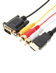High Quality HDMI to VGA/3RCA Cable
