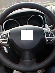 Xuji ™ Negro, volante de cuero genuino para Mitsubishi Lancer EX Outlander ASX Colt Pajero Sport