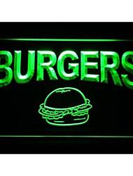 hambúrgueres café sinal de luz neon