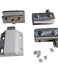 Stainless Steel Double Gate Magnetic Latch Without Drilling For Small Glass Door Hinge