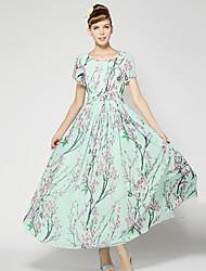 Bohemia vestido plissado de S-RAY Mulheres