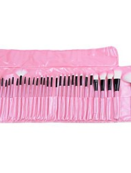32pcs Makeup Brushes set Professional Pink Powder/Foundation/Concealer/Blush brush Shadow/Eyeliner/Lip/Brow/Lashes Brush Makeup Kit with Holder Bag