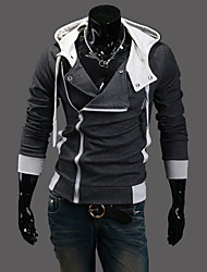 Nono Kapuzen schräge Reißverschluss Cardigan Hoodie (dunkelgrau)