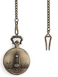 Ретро Жемчужина Востока Pattern металлик карманные часы (1шт)