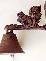 European and American Retro Rustic's Squirrel Of Wrought Iron  Door Bell