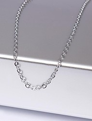 Eruner®Unisex 1MM Ring ChainSilver Chain Necklace NO.11