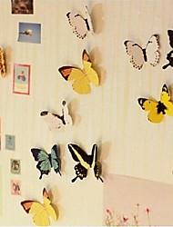 Mur couleur 3D de papillon autocollants