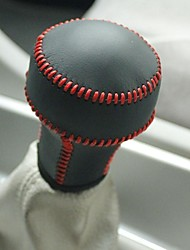 XuJi ™ Black Genuine Leather Gear Shift Knob Cover for Citroen C5 Manual Transmission