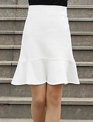 Women's White/Black Skirts , Sexy Mini