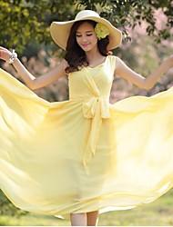 Женская Глубокий V Vchiffon платье без рукавов