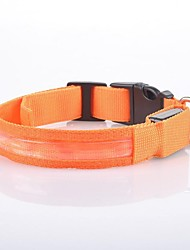 Pet Dog LED Glow Collar Nylon Electric Training Collars Products for Dogs 8 colors(Assorted Sizes)