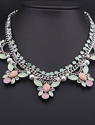 Women's Luxury Color Crystal Gemstone Necklace