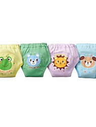 Boy's Baby Toddler Boys 4 Layers Reusable Waterproof Potty Cute Training Pants  (4Pieces)