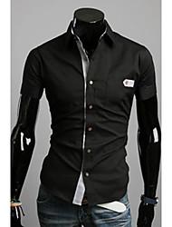 Glória colarinho da camisa de manga curta camisa cabida