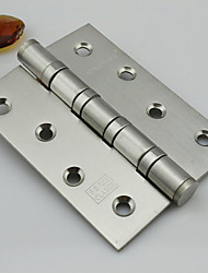 100mm × 75mm Mute Brushed Stainless Steel Door Hinge