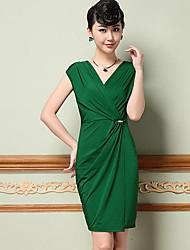 OL simples da Yiman ® Mulheres de Slim Vestido