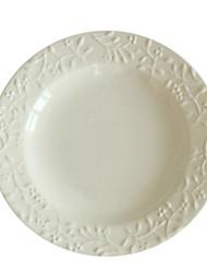 Anaglifi rotondo Piatto di ceramica, W15.2cm xL15.2cm xH1.8cm