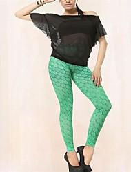 PinkQueen® Women's Spandex Green Mermaid Print Leggings