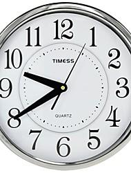 "Timess™ 12""H  Style Center Circle Super Mute Metallic Wall Clock"